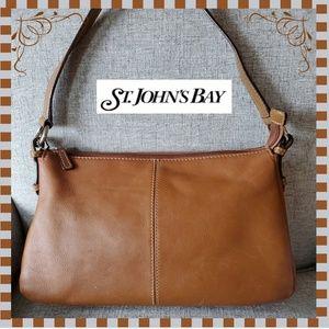 St. John's Bay Brown Leather Shoulder Purse Bag